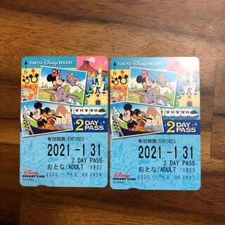 ディズニー(Disney)の【速達】ディズニーリゾートライン フリー切符(鉄道乗車券)