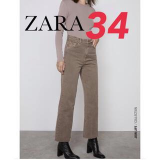 ZARA - 【新品】ZW PREMIUM 90S CROPPED プレミアムデニム 34