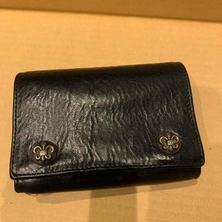クロムハーツ(Chrome Hearts)のクロムハーツ 3フォールド ウォレット  ブラック フレアー (折り財布)