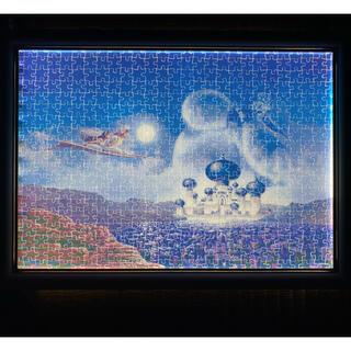 ディズニー(Disney)の額縁付き光るジーニージグソーパズル(絵画/タペストリー)