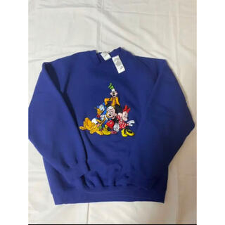 Disney - 【90's】ディズニーキャラクター刺繍スウェット