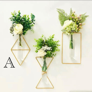 大人気♡ ゴールド ウォール フラワーベース 花瓶 韓国 北欧インテリア  壁掛