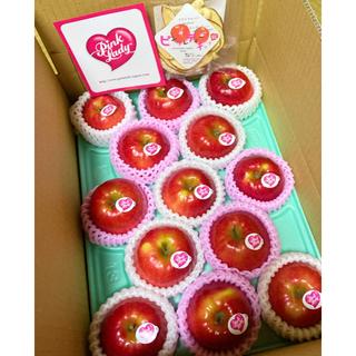 信州松川町産のピンクレディーっていう稀少なかわいいおいしいりんごです。(フルーツ)