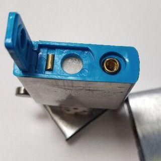 ジッポー(ZIPPO)の揮発防止ゴム1個ブルー ウィック2本 フリント30個 zippo用(タバコグッズ)