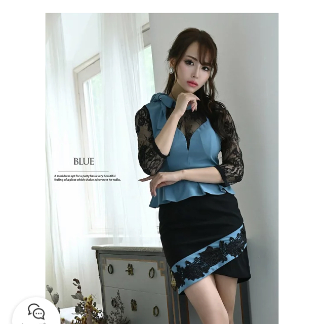 キャバ ドレス ミニ ワンピース 美品 レディースのフォーマル/ドレス(ミニドレス)の商品写真