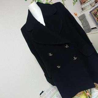 Vivienne Westwood - Vivienne Westwood オーブ ビーバー コート ブラック ラブ襟