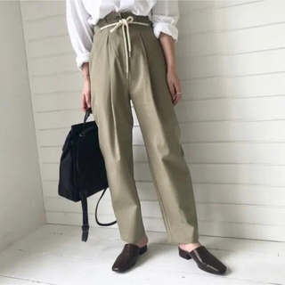 TODAYFUL - rope in tuck cropped pants 【willfully】