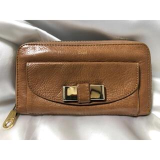クロエ(Chloe)のChloe クロエ 長財布 ベージュ 外観美品 送料無料(財布)