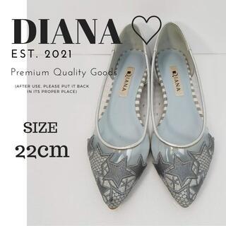 DIANA - ダイアナ DIANA フラット パンプス サイズ 22cm 刺繍