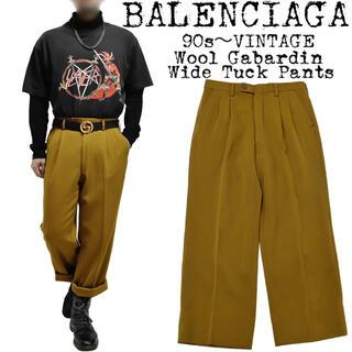 Balenciaga - 希少★BALENCIAGA★バレンシアガ★90s★ウールギャバジン ワイドパンツ