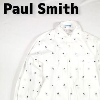Paul Smith ポールスミス 総柄 メンズ 犬柄 ドットシャツ