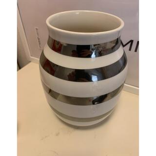 Kahler - ケーラー ケーラーオマジオ Mサイズ シルバー インテリア雑貨 フラワー  花瓶