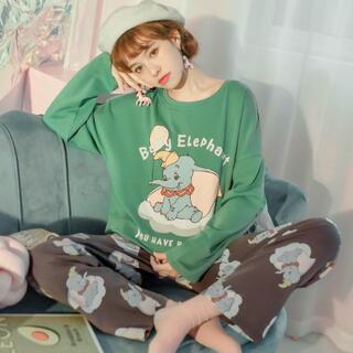 Disney - ダンボ パジャマ セットアップ ルームウェア ディズニー 韓国 大きいサイズ