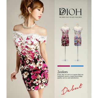DIOH【ディオ】オフショルダータイトワンピースドレス(ナイトドレス)