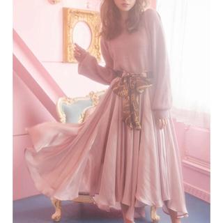 MIIA - MIIA💄光沢ボリュームスカート サテン ピンク