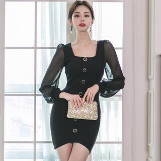【本日限定セール】andyジャンル♡韓国ファッション 袖シフォンキャバドレス