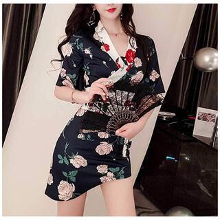 【本日限定セール】DURASジャンル♡韓国ファッション 花柄セクシーキャバドレス(ナイトドレス)