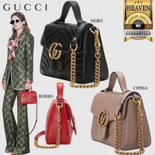 Gucci - GUCCI GGマーモント ミニトップハンドル