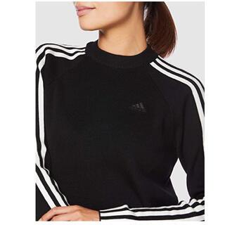 アディダス(adidas)の美品adidas golfセータースリーストライプス クルーネックセーター(ニット/セーター)