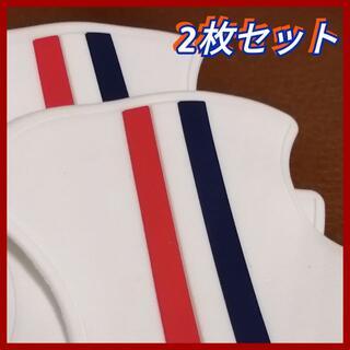 ◆2枚セット (白)ドアハンドル プロテクター 汎用 フランス車カラー ホワイト(その他)