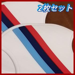◆2枚セット(白) ドアハンドル プロテクター 汎用 BMWカラー ホワイト(その他)