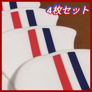 ◆4枚セット (白) ドアハンドル プロテクター フランス車カラー ホワイト(その他)