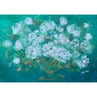 手書き作品  「Fancy rose」(絵画/タペストリー)