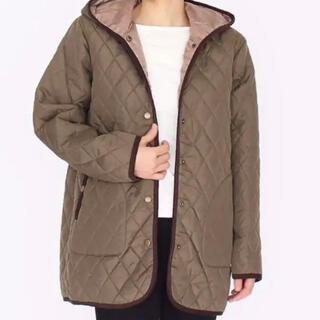 新品◆中綿5層キルトコートジャケット・カーキ・Lサイズ・キルティングアウター
