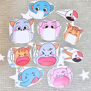 《カラーコピー素材》コンコンクシャンのうた保育教材大人気10枚知育玩具手遊び(知育玩具)