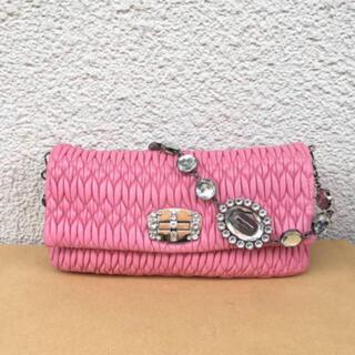 ミュウミュウ(miumiu)のミュウミュウmiumiuビジュー 正規品バッグ(ショルダーバッグ)