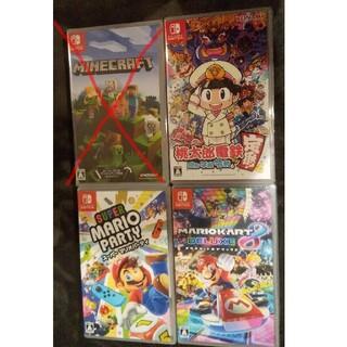 Nintendo Switch - マリオカート  マリオパーティ マインクラフト 桃鉄 ソフト4本