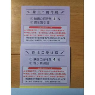 東京テアトル 株主優待 映画招待券 計8枚(その他)