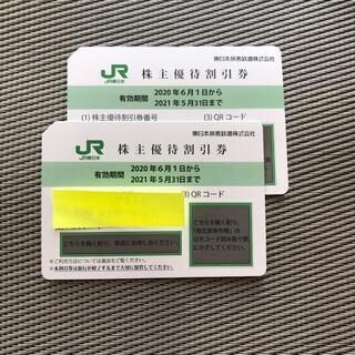 ジェイアール(JR)のJR東日本 株主優待割引券 2枚(鉄道乗車券)