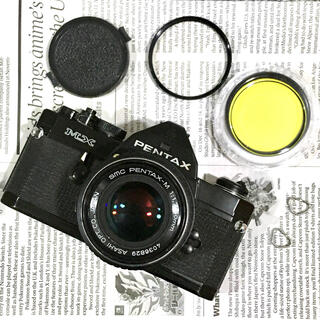 ペンタックス(PENTAX)のPENTAX MX ブラックペイント + 50mm f1.7 レンズ 【完動品】(フィルムカメラ)