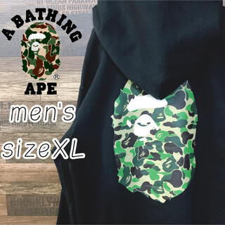 A BATHING APE - A BATHING APE エイプ フル ジップ パーカー 迷彩 ゆるだぼ