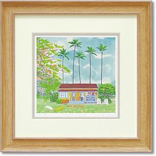 日本製 くりのきはるみ ジグレーアートフレーム KH-10126 ハワイアンハ(絵画/タペストリー)