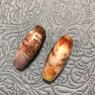 Dzi ジービーズ 西蔵 無限天珠 2個セット 天然石