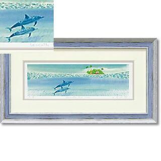 日本製 くりのきはるみ ジグレーアートフレーム KH-10128 beneat(絵画/タペストリー)
