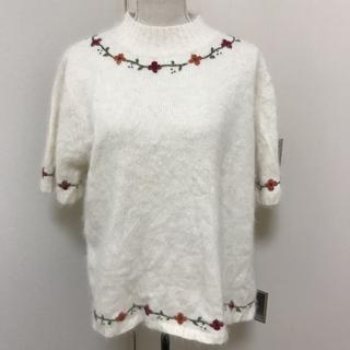 半袖ニット アンゴラ セーター 大きいサイズ