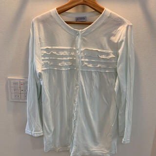 ロンT 授乳服 薄みどり色 Mサイズ(マタニティトップス)