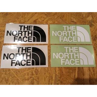 ザノースフェイス(THE NORTH FACE)のノースフェイス カッティングステッカー 白 2枚 黒 2枚 正規品(その他)