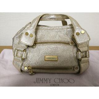 JIMMY CHOO - JIMMY CHOO ハンドバッグ ゴールド 美品