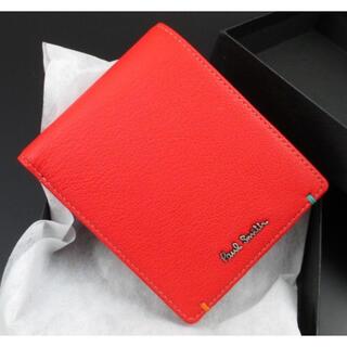 Paul Smith - ギフトに最適☆新品☆箱付 ポールスミス カラーポップゴート 折り財布 赤