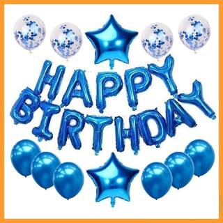 誕生日 風船 バルーン バースデー ブルー 飾り 装飾 プレゼント 青 お誕生日(その他)