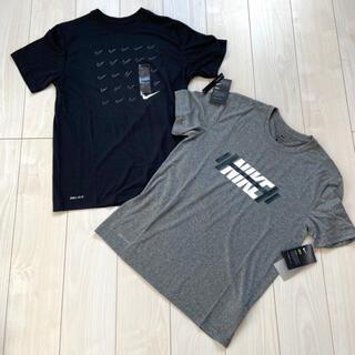 NIKE - 新品 NIKE メンズ Tシャツ M 2枚セット グレー ブラック 半袖 速乾