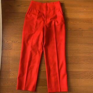 ADORE - イエナ レッドパンツ 圧巻の赤パンツ テーパードパンツ 大きいサイズ