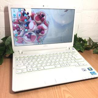 富士通 - 軽い❤️小さめ☆使いやすいWindows10ノートパソコン☆艶ホワイト☆白