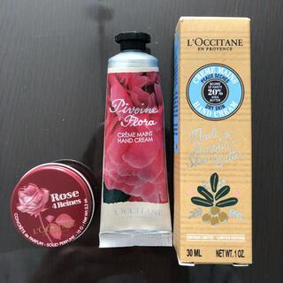 ロクシタン(L'OCCITANE)の(新品未使用)【ロクシタン 】ハンドクリーム2本 練り香水1個(ハンドクリーム)