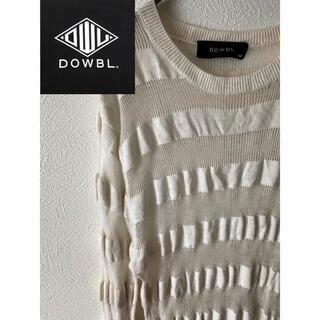 ダブル(DOWBL)のDOWBL トップスシースルーボーダークルーセーター(ニット/セーター)