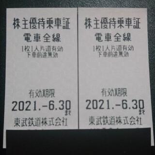 東武鉄道 株主優待乗車証(回数券) 5枚(鉄道乗車券)